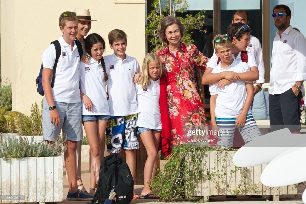 Spanish Royals At The Calanova Nautic Club In Mallorca : News Photo