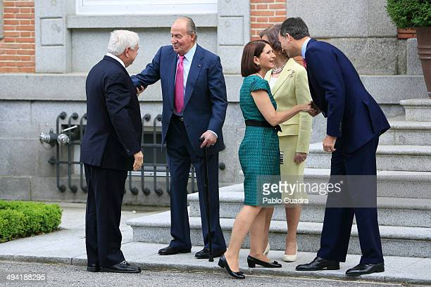 Spanish Royals King Juan Carlos Queen Sofia and Prince Felipe Meet President of Panama Ricardo Martinelli and wife Marta Linares de Martinelli at...