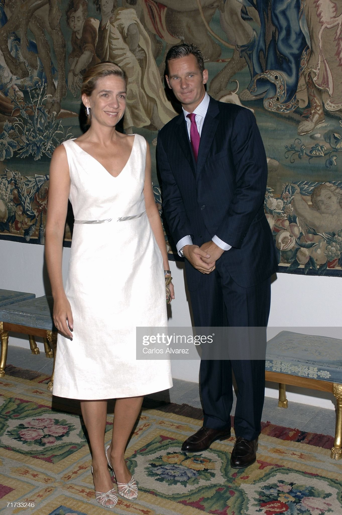 Spanish Royal Family Summer End Dinner At Almudaina Palace : News Photo