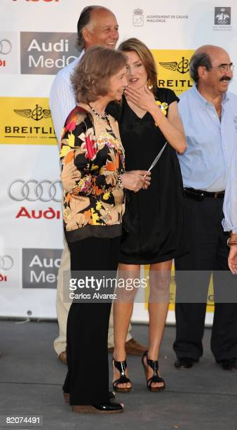 Spanish Royals Queen Sofia and Princess Letizia attend 14th Breitling Sailing Cup Ceremony Awards at San Carlos Castle Military Museum on July 26...