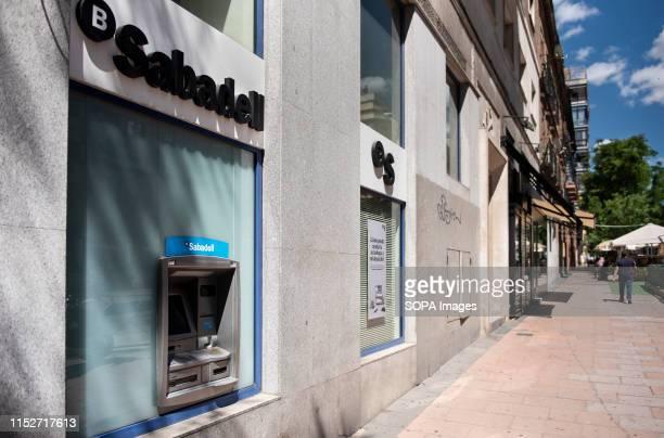 Spanish Sabadell bank branch in Madrid