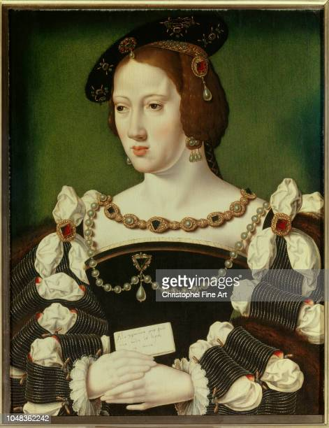 Spanish school Portrait of Eleonore of Habsburg Archduchess of Austria Queen of France Êwife of Francois I Musee Conde in Chantilly