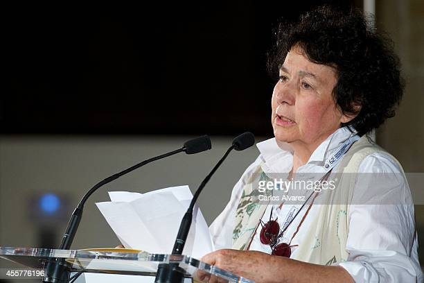 Spanish scriptwriter Lola Salvador receives the National Cinematography Award 2014 at the San Telmo Museum during the 62nd San Sebastian...