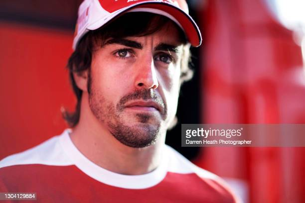 Spanish Scuderia Ferrari Formula One driver Fernando Alonso in the Formula One paddock during practice for the 2010 Turkish Grand Prix, Istanbul...