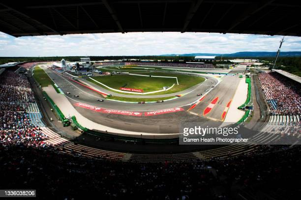 Spanish Scuderia Ferrari Formula One team racing driver Fernando Alonso driving his F2012 racing car ahead of every Formula One car and driver...