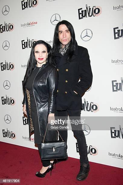 Spanish sing star Alaska and Mario Vaquerizo attend the ' EL Eunuco' on January 21 2015 in Madrid Spain