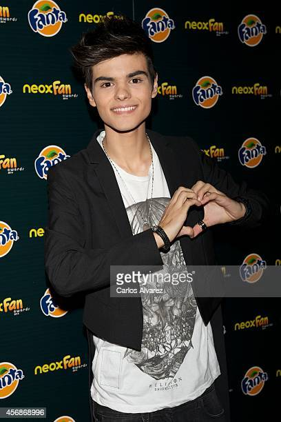 Spanish singer Abraham Mateo attends the Neox Fan Awards 2014 at the Compac Gran Via Theater on October 8, 2014 in Madrid, Spain.