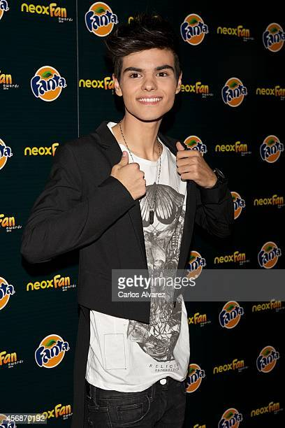 Spanish singer Abraham Mateo attends the Neox Fan Awards 2014 at the Compac Gran Via Theater on October 8 2014 in Madrid Spain