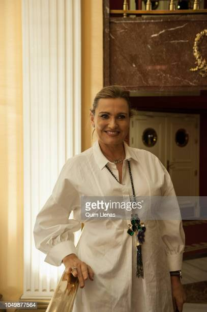 Spanish singer Ainhoa Arteta poses for a portrait session before the press conference for the Pablo Sorozabal's operetta 'Katiuska' in the Zarzuela...