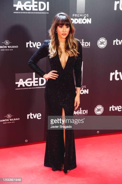 Spanish singer Aitana Ocaña aka Aitana attends the 1st Odeon Awards at Teatro Real on January 20 2020 in Madrid Spain
