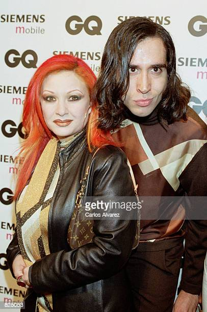 Spanish singer Alaska and her husband Mario Vaquerizo the Spring/Summer 2001 GQ fashion show party May 7 2001 in Madrid Spain