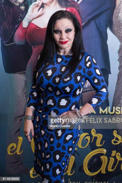 Spanish singer Alaska Olvido Gara attends the 'El Amor Sigue En El Aire' photocall at Vincci Capitol Hotel on February 6 2018 in Madrid Spain