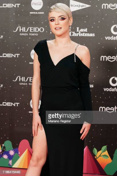 Spanish singer Alba Reche attends 'Los40 music awards 2019' photocall at Wizink Center on November 08 2019 in Madrid Spain