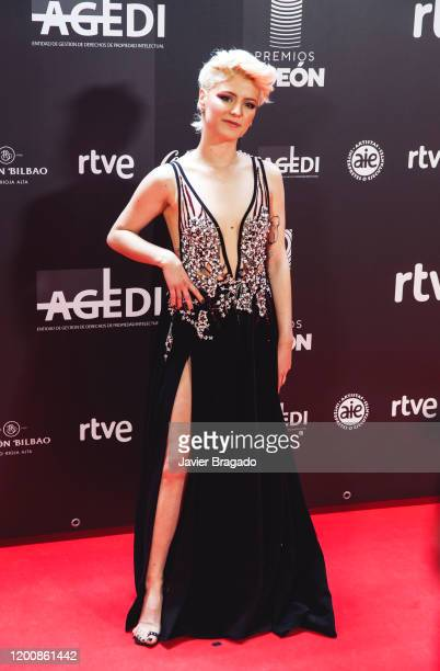 Spanish singer Alba Reche attends the 1st Odeon Awards at Teatro Real on January 20 2020 in Madrid Spain