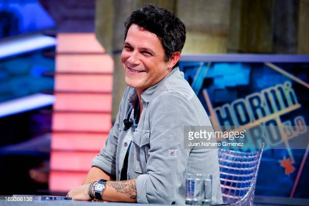 Spanish singer Alejandro Sanz appears on 'El Hormiguero' TV show at Vertice Studio on May 23 2013 in Madrid Spain