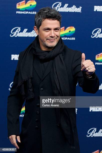 Spanish singer Alejandro Sanz attends the '40 Principales Awards' 2013 photocall at Palacio de los Deportes on December 12 2013 in Madrid Spain