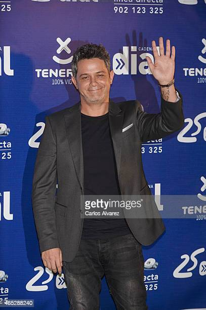 Spanish singer Alejandro Sanz attends the Cadena Dial Awards 2014 at the Recinto Ferial Auditorium on March 5 2015 in Tenerife Spain
