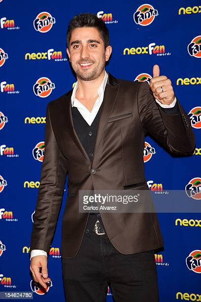 Spanish singer Alex Ubago attends the 'Neox Fan Awards' 2012 photocall at the La Latina Teather on October 23 2012 in Madrid Spain