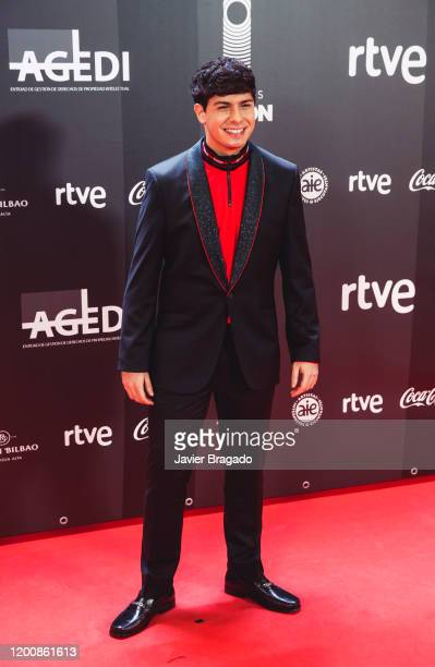 Spanish singer Alfred García attends the 1st Odeon Awards 2020 at Teatro Real on January 20 2020 in Madrid Spain