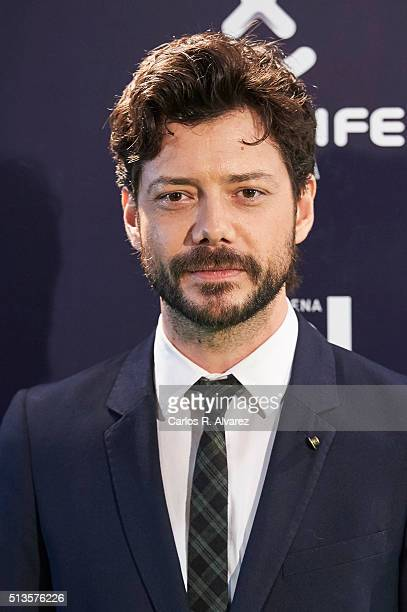 Spanish singer Alvaro Morte attends the Cadena Dial 2015 awards at the Recinto Ferial on March 3 2016 in Tenerife Spain