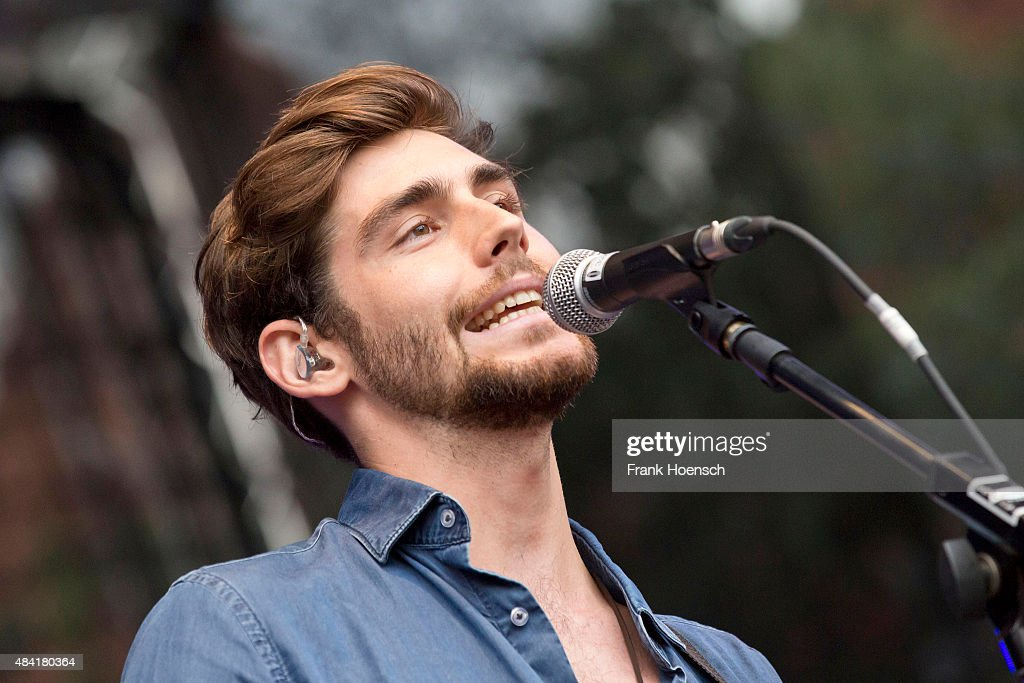 Spanish singer Alvaro Soler performs live during a concert at the