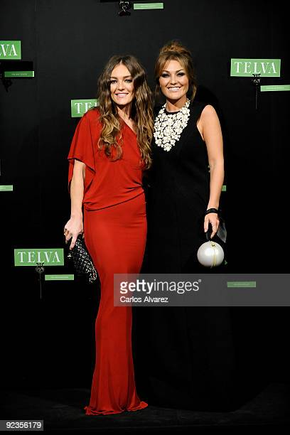 Spanish singer Amaia Montero and her sister Idoia Montero attend 2009 TELVA magazine Fashion Awards at El Canal Theatre on October 26 2009 in Madrid...