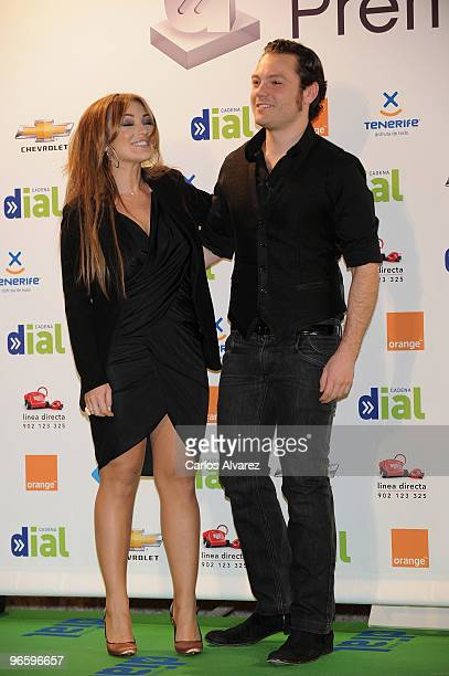 Spanish singer Amaia Montero and Italian singer Tiziano Ferro attend the ''Cadena Dial'' 2010 awards at the Tenerife Auditorium on February 11 2010...