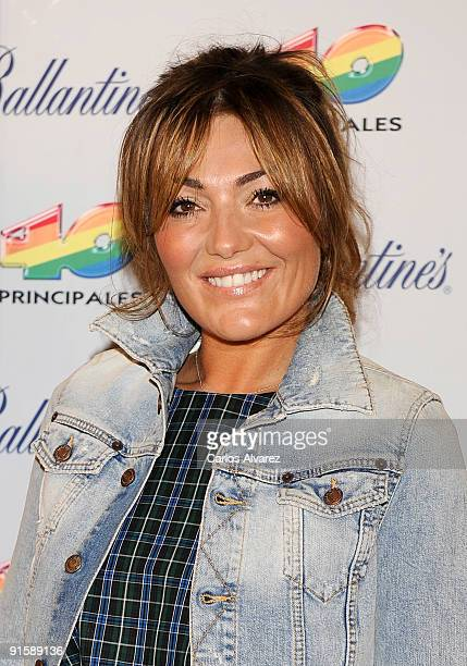 Spanish singer Amaia Montero attends 40 Principales nominated press conference at Teatro Rialto on October 8 2009 in Madrid Spain