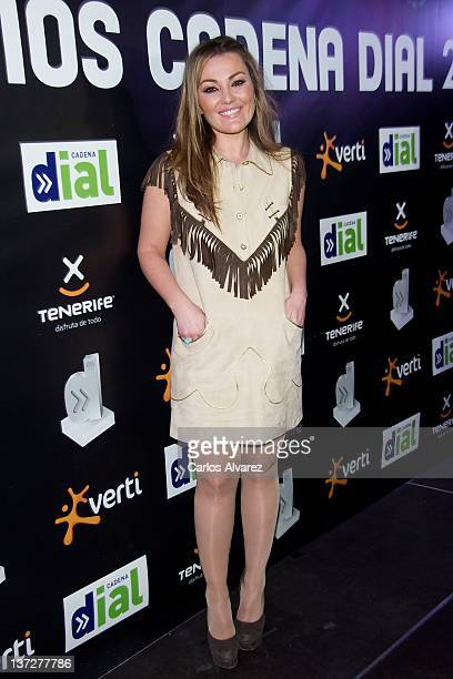 Spanish singer Amaia Montero attends Cadena Dial Awards 2012 press conference at 40 Principales Cafe on January 18 2012 in Madrid Spain