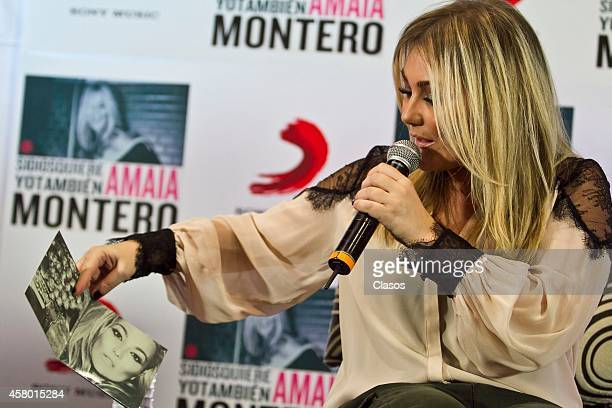 Spanish singer Amaia Montero presents her new album 'Si Dios Quiere Yo Tambien' at Sony Music Auditorium on October 28 2014 in Mexico City Mexico