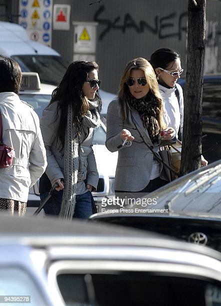 Spanish singer Amaia Montero seen shopping with a friend on December 11 2009 in Madrid Spain