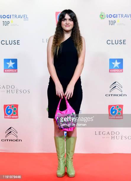 Spanish singer Amaia Romero attends Legado En Los Huesos Madrid Premiere on December 04 2019 in Madrid Spain