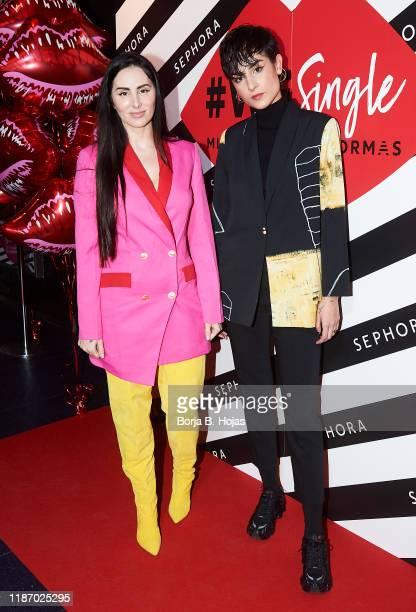 Spanish singer Ana Maria Rodriguez 'Mala Rodriguez' and spanish singer Natalia Lacunza attends photocall of '#WeSingle' by Sephora on November 11...