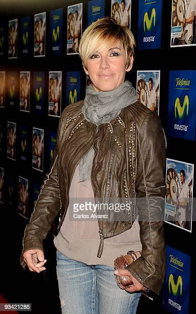 Spanish singer Ana Torroja attends Alejandro Sanz's concert at Compac Theater on November 25 2009 in Madrid Spain