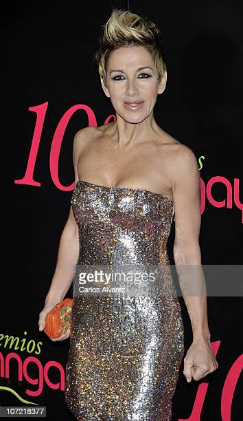 """Spanish singer Ana Torroja attends """"Shangay Awards 2010"""" at Coliseum Theater on November 30, 2010 in Madrid, Spain."""