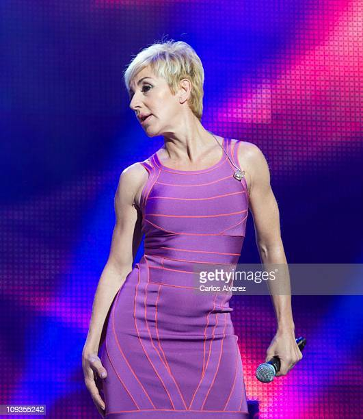 Spanish singer Ana Torroja performs on stage during Cadena Dial awards 2011 ceremony at Tenerife Auditorium on February 22 2011 in Tenerife Spain