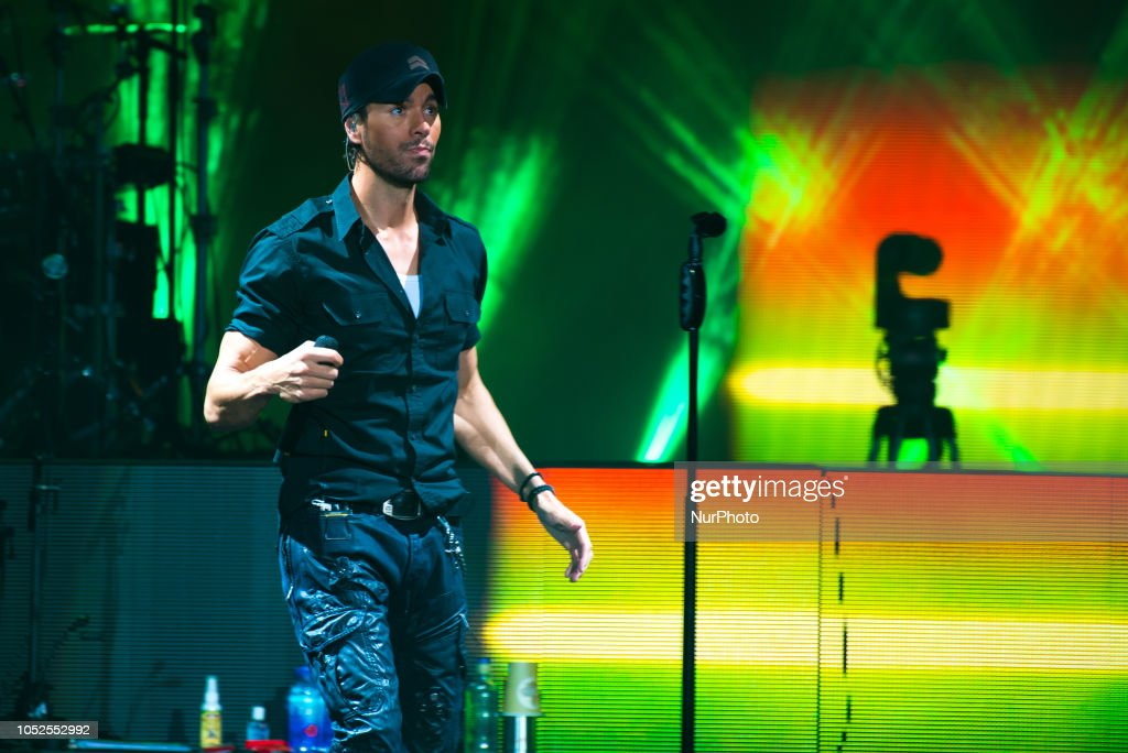 Spanish singer and actor Enrique Iglesias performs live on