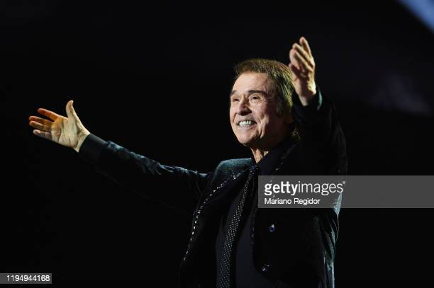 Spanish singer and actor Raphael performs onstage at Wizink Center on December 19 2019 in Madrid Spain