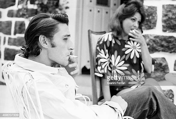 Spanish singer and actress Marujita Diaz at her home in Madrid with her husband the dancer Antonio Gades Madrid Castilla La Mancha Spain