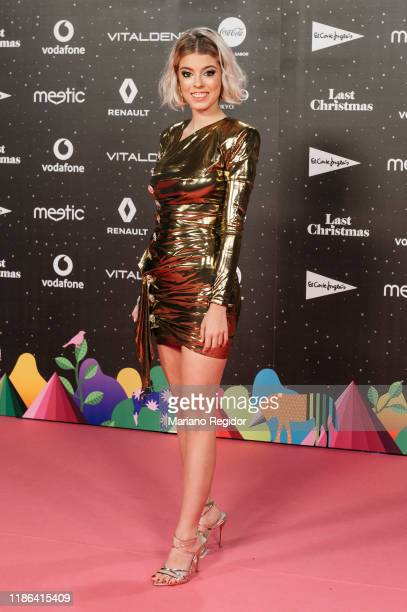 Spanish singer and actress Nerea Rodríguez attends 'Los40 music awards 2019' photocall at Wizink Center on November 08 2019 in Madrid Spain
