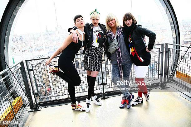 Spanish singer and model Bimba Bose, supermodel Agyness Deyn, DJ Nikki Beatnik and french singer Yelle celebrate the European launch of the Reebok...