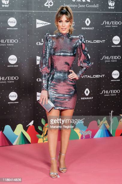 Spanish singer and model Edurne attends 'Los40 music awards 2019' photocall at Wizink Center on November 08 2019 in Madrid Spain