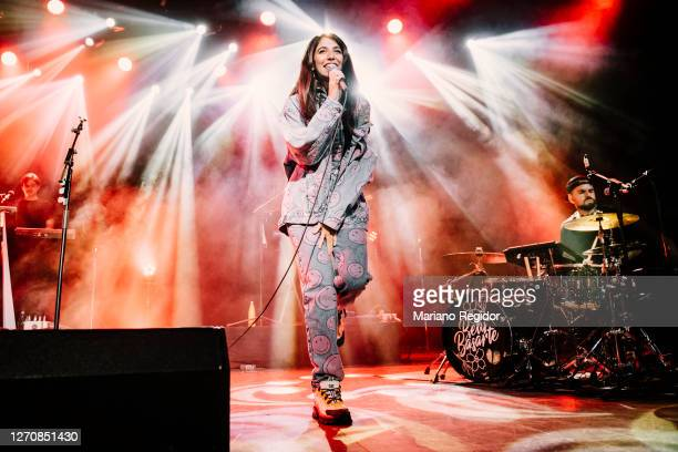 Spanish singer and songwriter Belén Basarte, aka Bely Basarte, performs on stage at La Riviera as part of the Live Nation's Crew Nation charity...