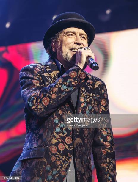 Spanish singer and songwriter Joaquin Sabina performs on stage at Wizink Center January 21 2020 in Madrid Spain