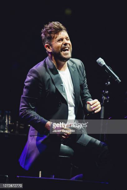 Spanish singer and songwriter Pablo Lopez performs on stage at Wizink Center on September 16, 2020 in Madrid, Spain.