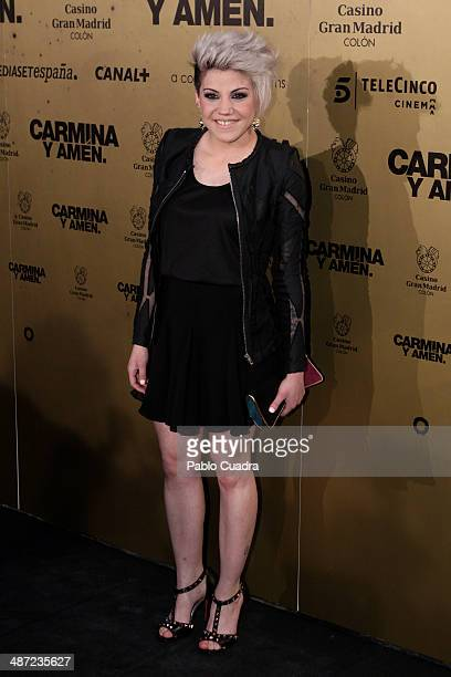 Spanish Singer Angie attends the 'Carmina y Amen' premiere at the Callao cinema on April 28 2014 in Madrid Spain