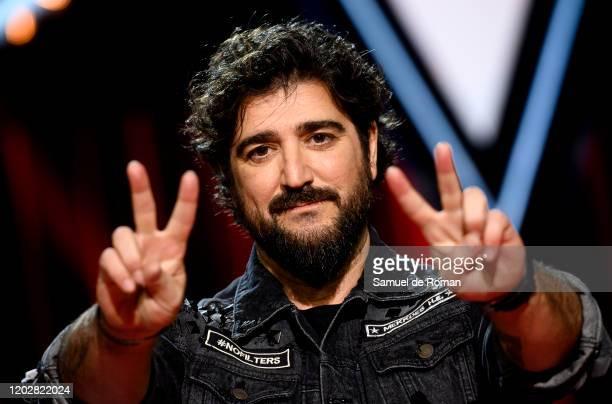 Spanish singer Antonio Orozco attends 'La Voz' Photocall In Madrid on January 29 2020 in Madrid Spain