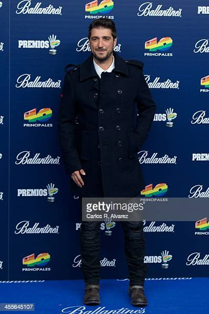 Spanish singer Antonio Orozco attends the '40 Principales Awards' 2013 photocall at Palacio de los Deportes on December 12 2013 in Madrid Spain