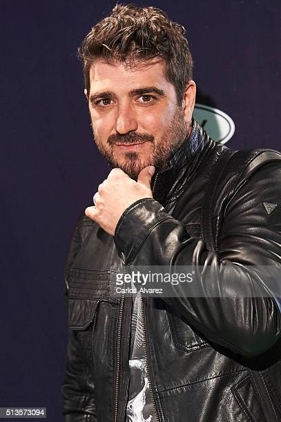 Spanish singer Antonio Orozco attends the Cadena Dial 2015 awards at the Recinto Ferial on March 3 2016 in Tenerife Spain