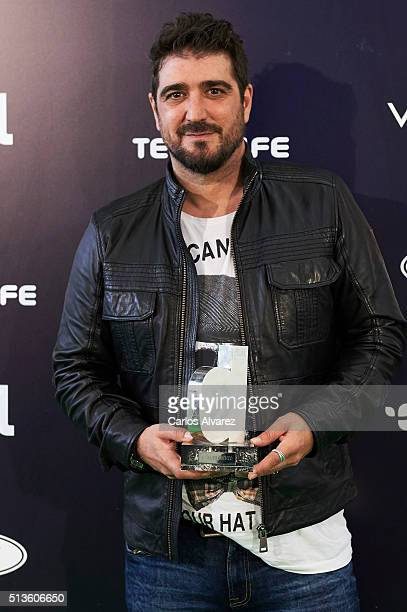 Spanish singer Antonio Orozco attends the Cadena Dial 2015 awards press room at the Recinto Ferial on March 3 2016 in Tenerife Spain